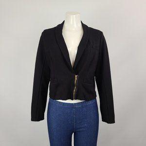 Marc Jacobs Black Zipper Detail Jacket Size L